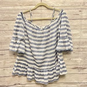 Beach Lunch Lounge   striped off shoulder top